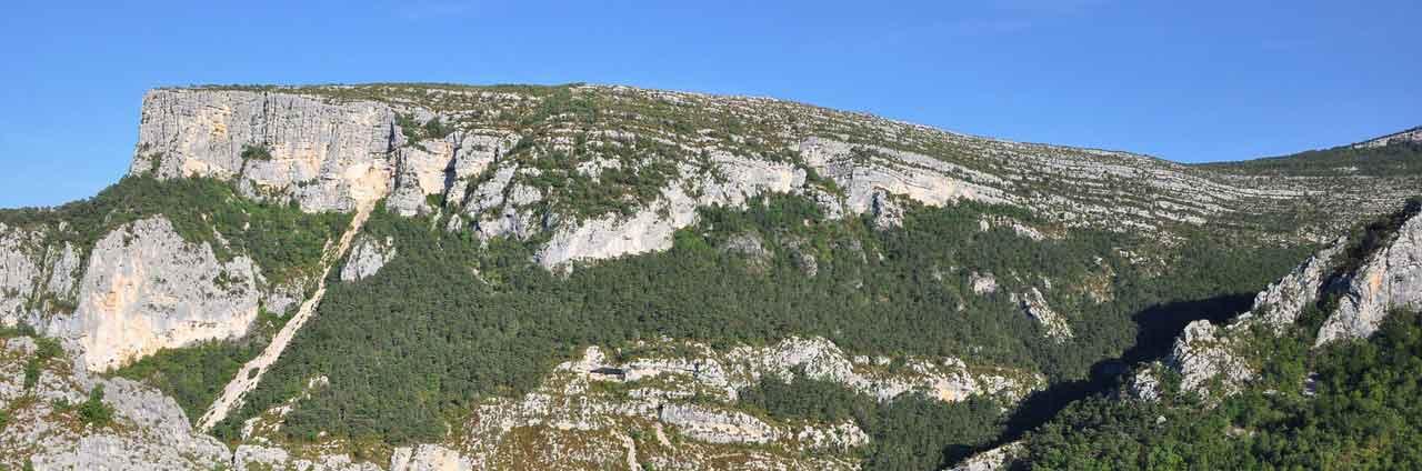 les sites d'escalades dans le Verdon